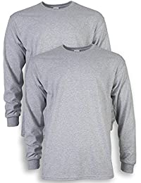 Men's Ultra Cotton Adult Long Sleeve T-Shirt, 2-Pack