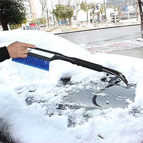 2-in-1 Ice Scraper with Brush Car Windshield Snow Brush Car Snow Remover Windshield Removal Tool Ijs Krabber Rascador Rascadores (Best Car Windscreen Scraper)