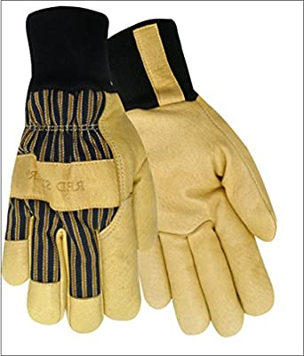 Red Steer 59260 Heatsaver Thermal Lined Grain Pigskin Leather Palm Work & General Purpose Gloves [PRICE is per PAIR]