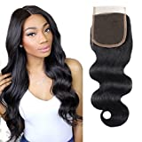 Unprocessed Brazilian Body Wave Lace Closure size 4×4 100% Human Hair Closure Li Queen Top Lace Closure Free Part 1B# Color 20 inch Review