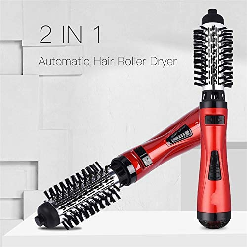 Hot Air Comb 2 in 1 Automatic Hair Curling Roller Hot Air Brush Professional Hair Dryer Curling Comb Wand 2 Speed 3 Heat Settings Below Dryer  LyoRP