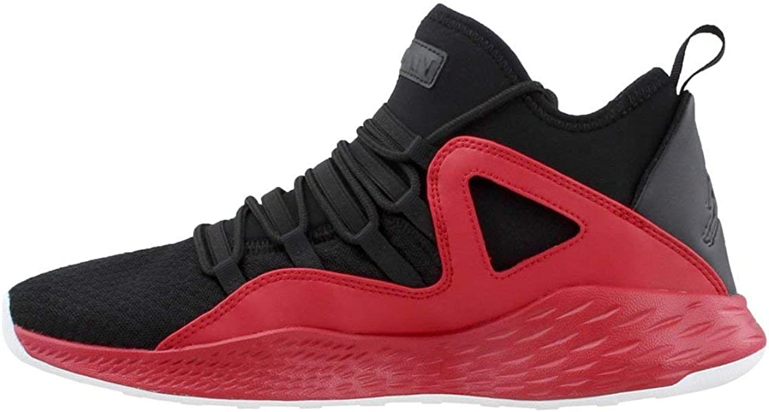 a5fda69c1444cc Nike Jordan Mens Jordan Formula 23 Black Black Gym Red White Basketball  Shoe 10 Men