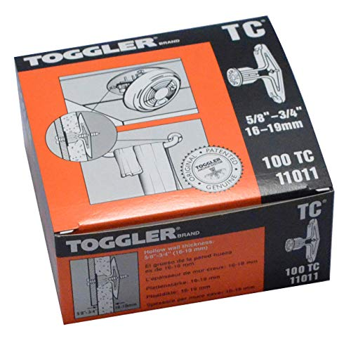 TOGGLER Toggle TC Commercial Drywall Anchor, Polypropylene, Made in US, 5/8