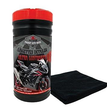 Toallitas limpiadoras y abrillantadoras para motos: Amazon.es: Coche y moto