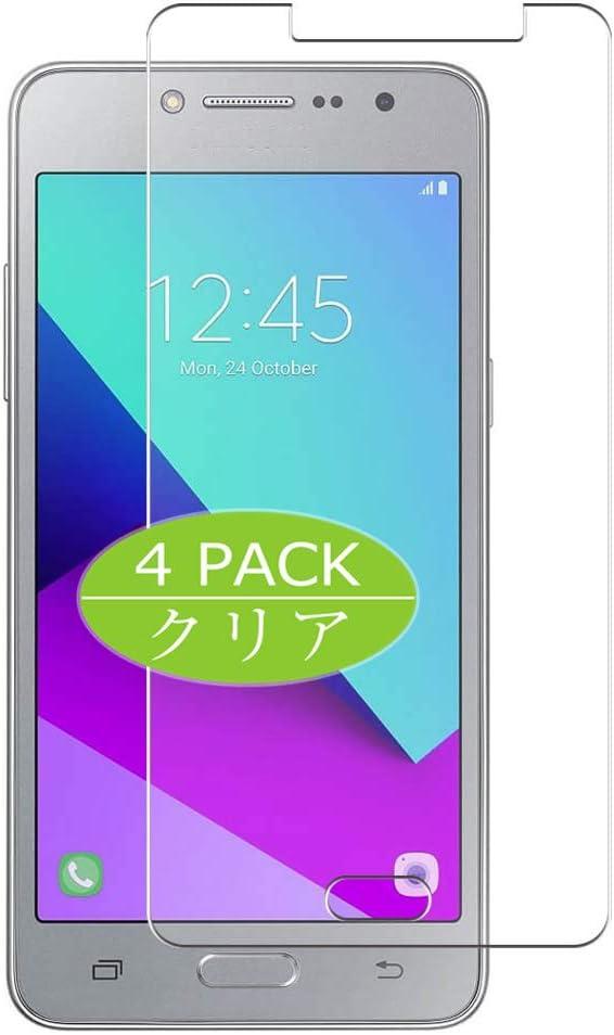 VacFun 4 Piezas HD Claro Protector de Pantalla para Samsung Galaxy J2 Prime Grand Prime Plus, Screen Protector Sin Burbujas Película Protectora (Not Cristal Templado)