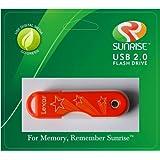 Lexar JumpDrive TwistTurn 16 GB USB 2.0 Flash Drive Orange Stars