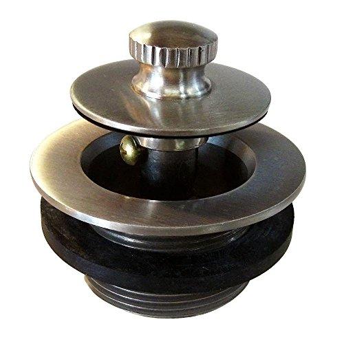 - Westbrass D331-F-07 1-3/8-Inch NPSM Fine Thread Twist-and-Close Bath Drain Plug, Satin Nickel