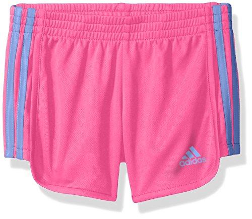 adidas Toddler Girls' Mesh Short, Solar Pink, 4T