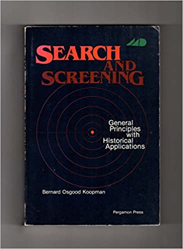 Descargar En Torrent Search And Screening: General Principles With Historical Applications Ebook Gratis Epub