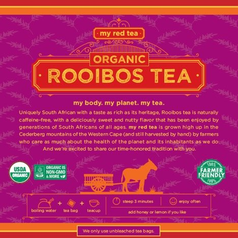 Rooibos Tea, USDA Certified Organic Tea, MY RED TEA. Tagless South African, 100% Pure, Single Origin, Natural, Farmer Friendly, GMO and Caffeine Free (80) by My Red Tea (Image #2)