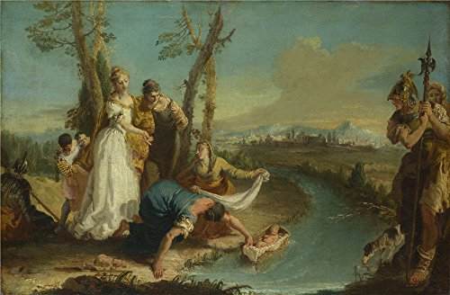 Oil Painting 'Francesco Zugno - The Finding Of Moses,after 1740' 12 x 18 inch / 30 x 46 cm , on High Definition HD canvas prints is for Gifts And Bed Room, Game Room And Study Room decor, prints on