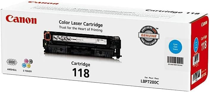 Canon Original 118 Toner Cartridge - Cyan