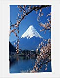 fuji facial steamer - Minicoso Bath Towel Beautiful cherry blossoms with Mount Fuji japan 472102607 For Spa Beach Pool Bath