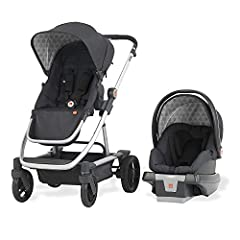 The GB EVOQ Travel System Stroller is great for babies or toddlers. With a convenient four-in-one design, the GB Asana35 Infant Car Seat's Firm Fit system enables easy installation in your vehicle. When out on foot, the stroller features a re...