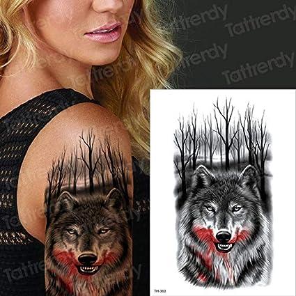 HXMAN 5uns Maquillaje Falsos Tatuajes Temporales Pegatinas Chica ...
