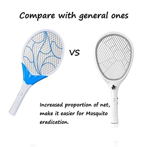 vivisky electric handheld led fly swat bug mosquito racket killer swatter zapper control with