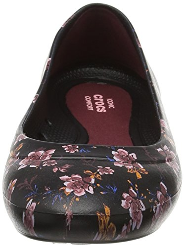 Flat floreale Crocs Graphic da nero donna Lina nere Ballerine ApUgq