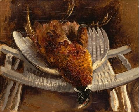 - Oil Painting 'Henry Varnum Poor,Dead Pheasant,about 1935' Printing On Perfect Effect Canvas , 12x15 Inch / 30x38 Cm ,the Best Bar Decor And Home Decoration And Gifts Is This High Quality Art Decorative Prints On Canvas