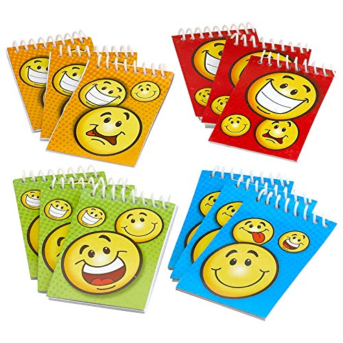 Kidsco Spiral Smiley Notepads 2.25 X 3.5 20 Pages Each - Pack of 12