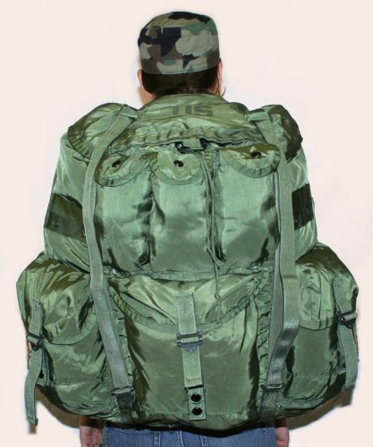 USGI Military Large Olive Drab Alice Pack w/ Straps / Frame / (Olive Drab Alice Pack)