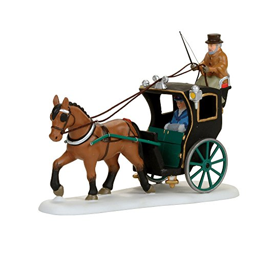 Department 56 Dickens Holiday Cab Ride Figurine Village Accessory, Multicolor