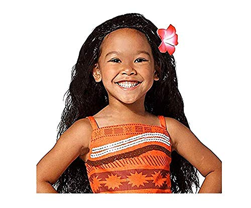 Disney Moana Costume Wig for Kids (Plumeria Hair Comb)