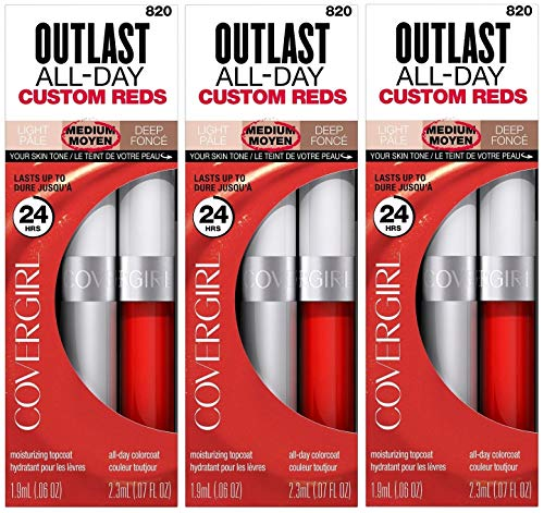 COVERGIRL Outlast All-Day Lipcolor Youre On Fire! .13 fl oz 3 Pack