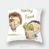 Custom Satin Pillowcase Protector A Little Boy And Girl Is Holding A Large Bag With Food 140613295 Pillow Case Covers Decorative