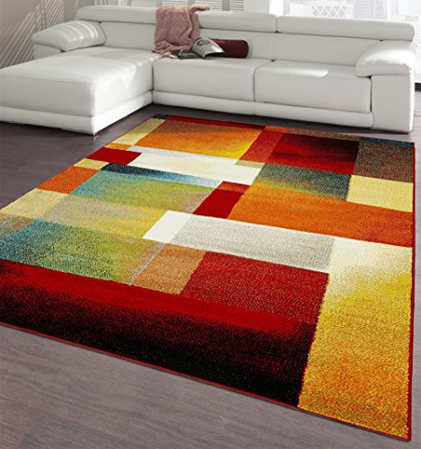 Ottomanson CIT3116-5X7 City Collection Modern Area Rug Contemporary Sculpted Effect Abstract Multi-Color Rug-5x7 (5'3