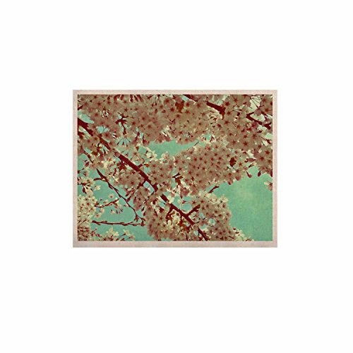 kess inhouse Alison Coxon 'Abril' rosa floral Kess Naturals lona impresión (Marco No Incluido), 11' x 14'