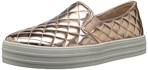 Womens Duvet (Skechers BOBS Women's Double up-Duvet Sneaker, Rose Gold, 8 M US)