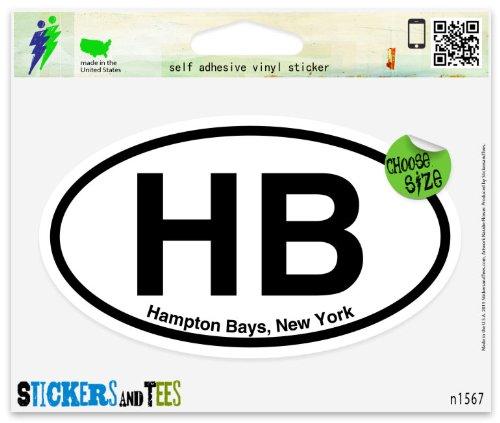 HB Hampton Bays New York Oval Vinyl Car Bumper Window Sticker 3