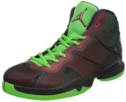 Jordan Nike Men's Super.Fly 4 Black/Gym Red/Grn Pls/Infrrd 23 Basketball Shoe 11 Men US (Red And Black 23 Jordans)