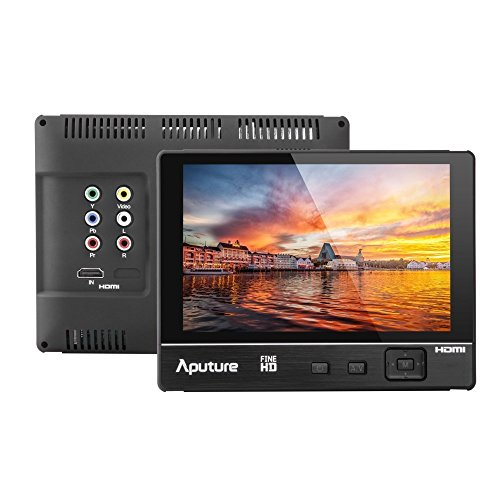 Aputure VS-2 FineHD 7 Inch Ultra HD 1920x1200 LTPS Camera Field Monitor Supports HDMI YPbPr AV Interface Features Peaking Highlight Focus-Assist Functions and Exposure Control for Perfect Exposure by Aputure