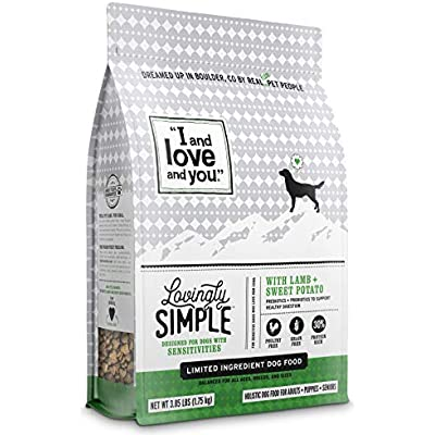 """I and love and you"" Lovingly Simple Dry Dog Food - Grain Free Limited Ingredient Kibble (Variety of Flavors)"