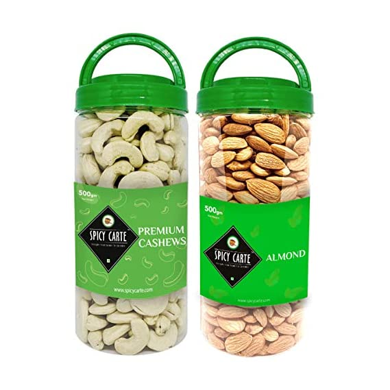 Spicy Carte Dry Fruits Combo Pack - Cashew Nut & Almond, 1Kg