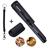 Longruner Pinpointer Metal Detector, Treasure Hunting Tool Buzzer Vibrate Portable Pin Pointer with LED Indicators and Belt Holster LQW31