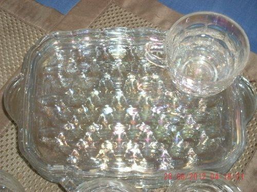 Federal Glass Snack (Federal Glass Company 8 Piece 1950's Snack Set in ORIGINAL BOX)