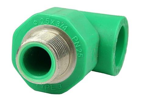 PPR Aqua de Plus – Racor en T para tubos de 20 mm y rosca exterior
