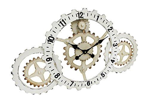 Things2Die4 Industrial Gears Wood and Metal Steampunk Style Wall Clock 3