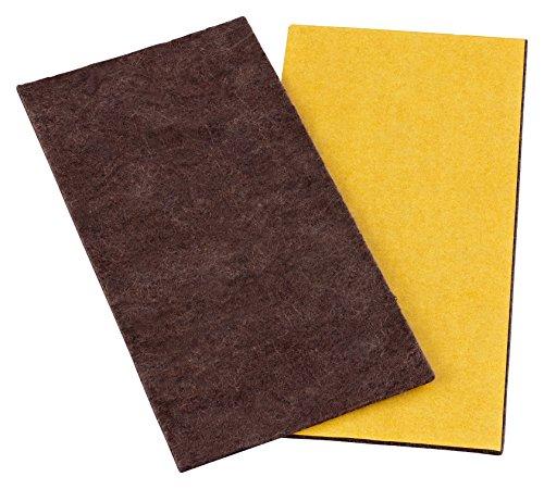 "Hot haggiy Adhesive Backed Felt - Felt Sheets, Self-Adhesive Felt Plates, 0.118"" thick, Brown   A4 Size (8.3"" x 11.7"") for cheap"