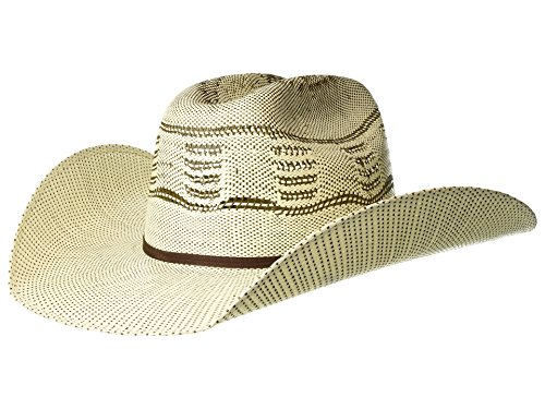 ARIAT Men's Two-Tone Bangora Hat, Ivory, Brown, 7