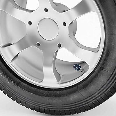 WINKA Set of 4 Rhinestone Tire Valve Stem Caps Bling Car Accessory Compatible with Universal Wheel Air Stem Valve Black: Automotive
