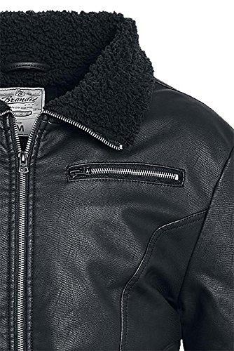 Brandit Mens B52 PU Jacket Black Size XL at Amazon Mens Clothing store: