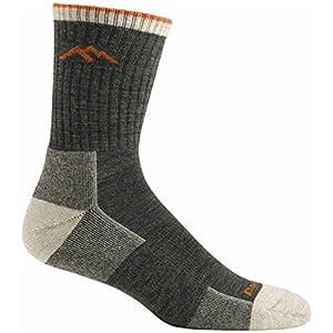 Darn Tough Merino Wool Hiking Micro Crew Bottom Cushion Socks - Men's Olive 2X-Large