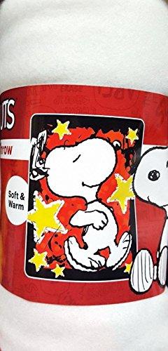 Micro Raschel Throw Blanket 50x60 (Snoopy Star Treatment Micro Raschel 45
