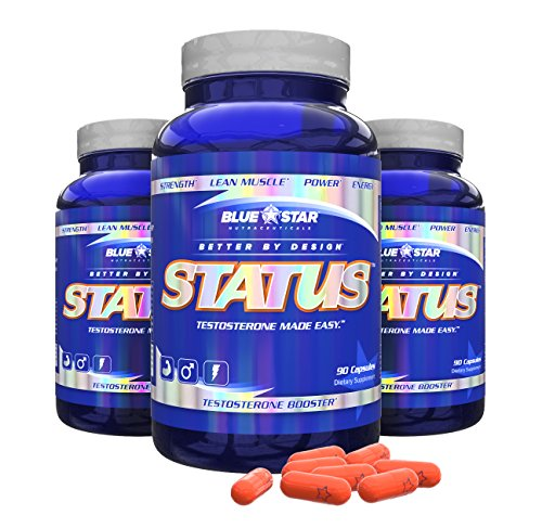 Blue Star Nutraceuticals Status Increase Healthy Testosterone (90 Capsules) (3) by Blue Star Nutraceuticals