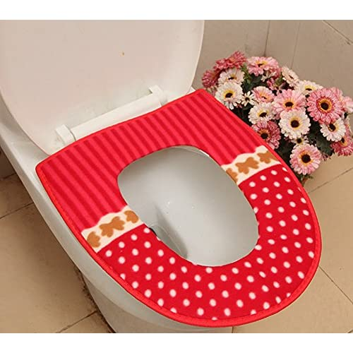 LFHT 5 Pack Soft and Warm Thicken Toilet Seats Covers 60%OFF