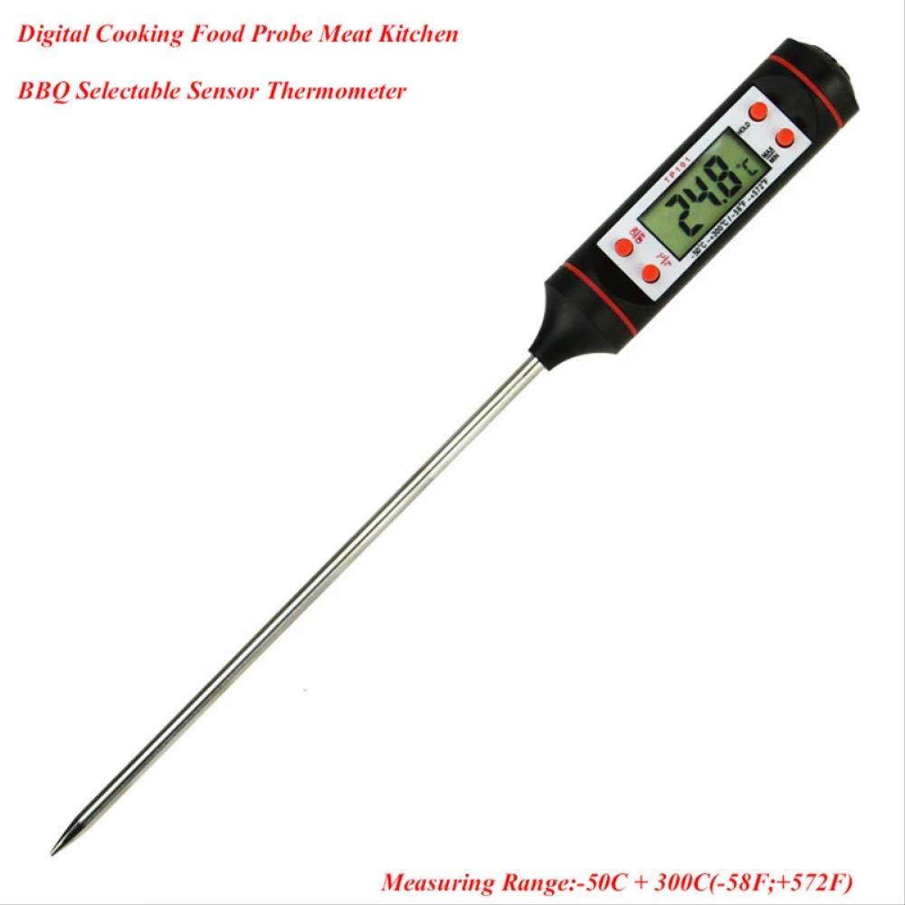 KWOSJYAL Casa conveniente Termometro per Alimenti Digitale Sonda di Carne Cucina BBQ Sensore Selezionabile Termometro da Cucina Drop Shipping