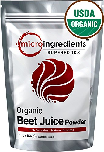 Micro Ingredients Organic Beet Root Juice Powder, 1lb Non-GMO Natural Nitrates and Best Superfoods